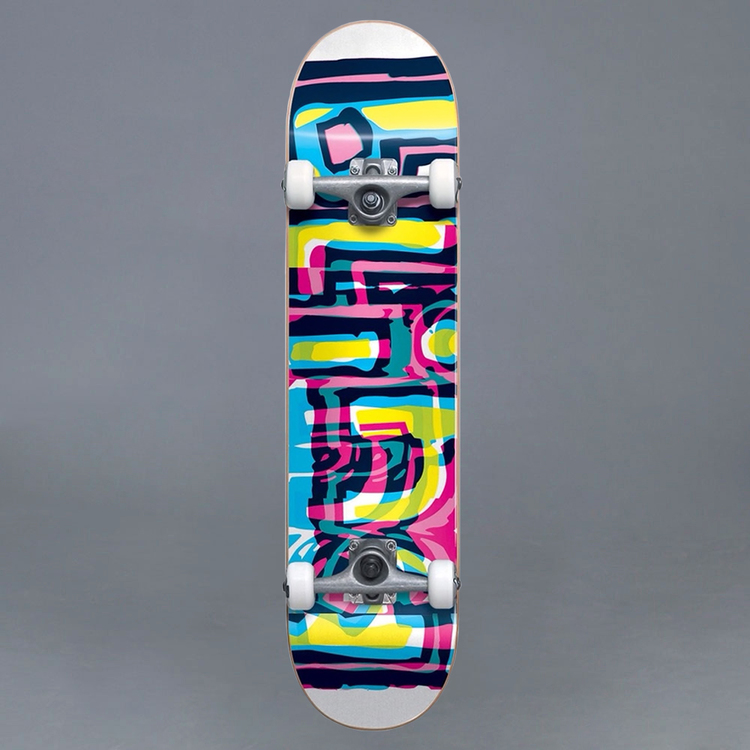 """Blind Logo Glitch FP White 7.25"""" Komplett Skateboard"""