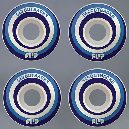 Flip Cutbacks Blue 54mm Skateboard Hjul