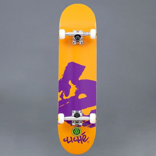 Cliche Europe Orange 7.875 Komplett Skateboard