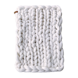 CHUNKY KNIT BABY BLANKET X-SMALL