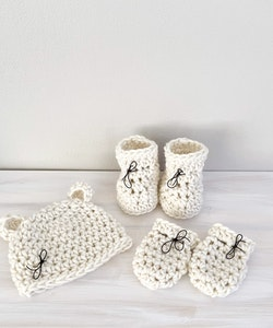 MERINO WOOL BABY SET