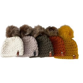 PERUVIAN WOOL CHUNKY KNIT BABY HAT, 0-6MONTHS, MULTIPLE COLOUR CHOICES
