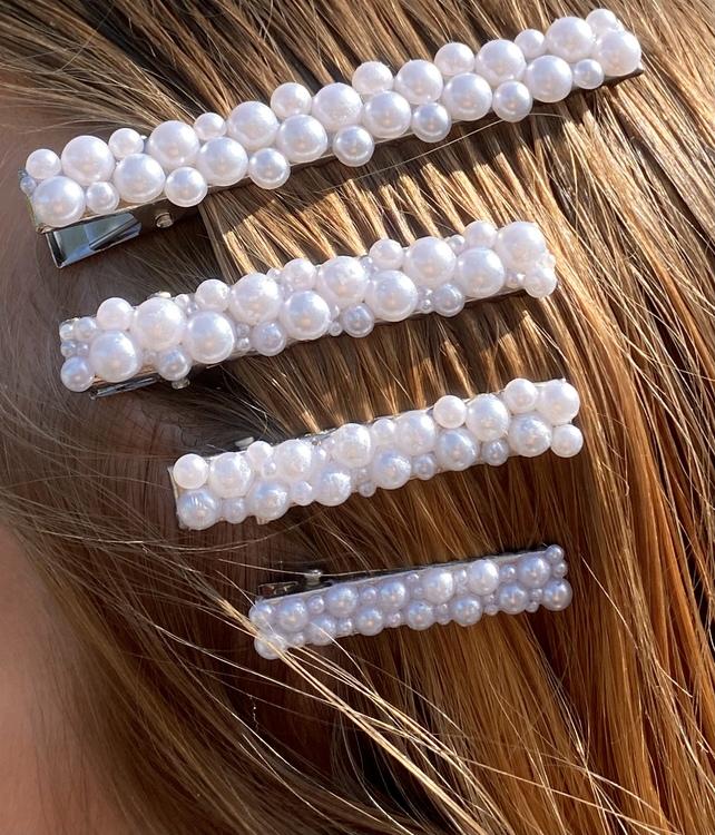 Leia hårspännen - guld / silver