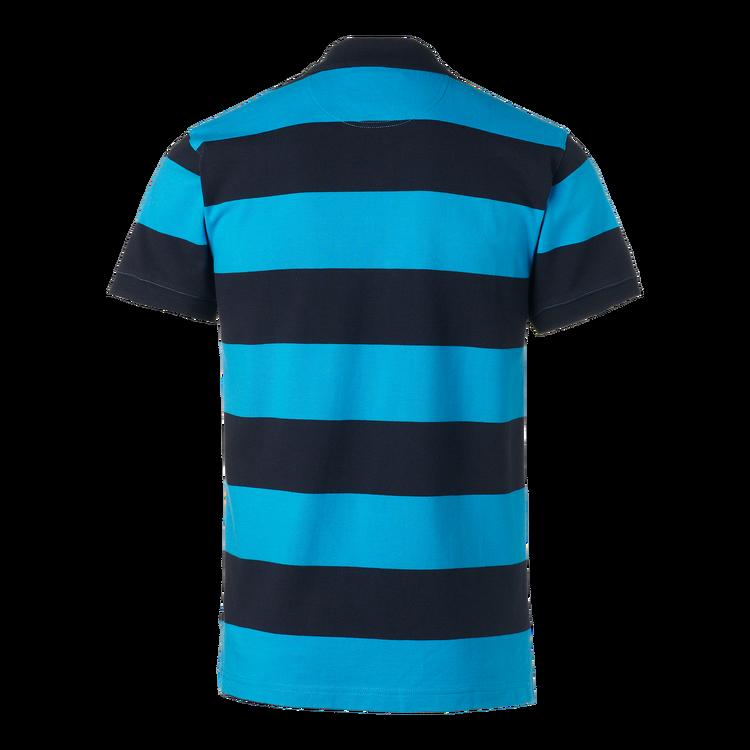 Klassisk Striped Piké Blue