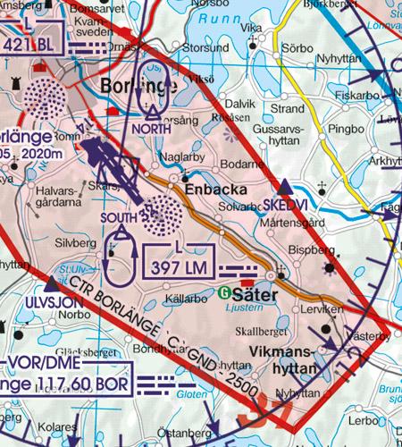 VFR Karta Sverige Syd 1:500 000
