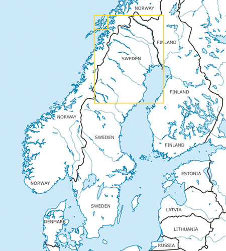 VFR Karta Sverige Center Norr 1:500 000