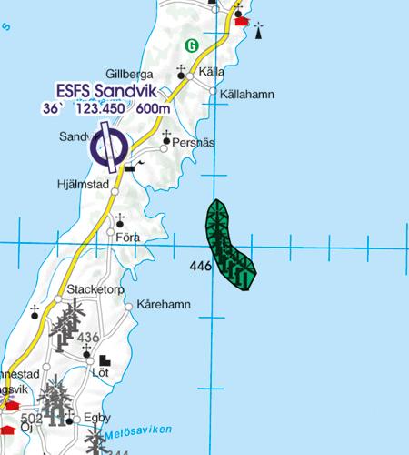 VFR Karta Sverige Center Syd 1:500 000