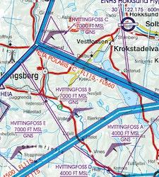 VFR Karta Norge Norr 1:500 000