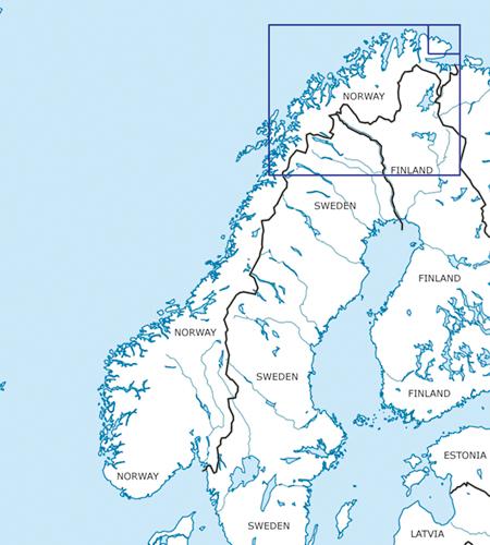 VFR Karta Norge Center Syd 1:500 000