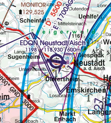 VFR Karta Tyskland Norr 1:500 000