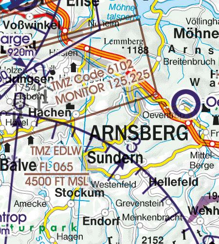 VFR Karta Tyskland Syd 1:500 000