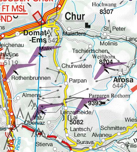 VFR Karta Schweiz 1:500 000