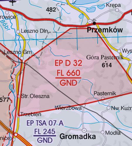 VFR Karta Polen Norr 1:500 000