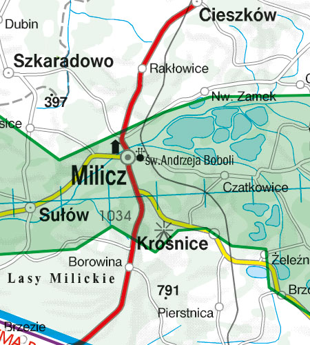 VFR Karta Polen Sydväst