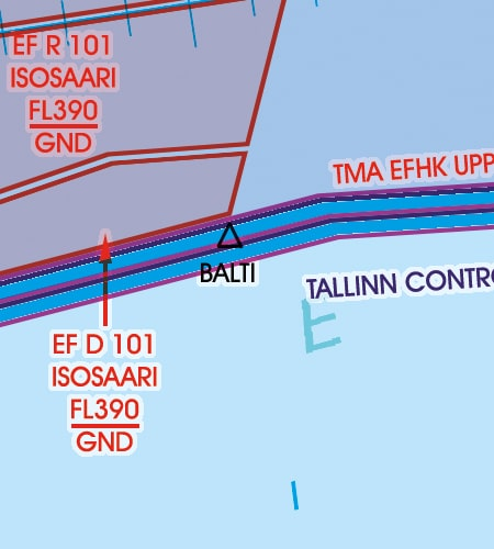 VFR Karta Estland 1:500 000