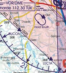 VFR Karta Lettland 1:500 000