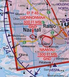 VFR Karta Finland Norr 1:500 000