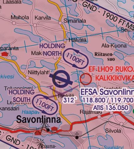 VFR Karta Finland Center 1:500 000