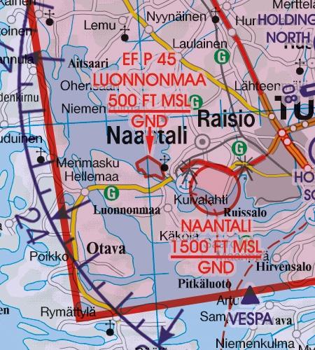 VFR Karta Finland Syd 1:500 000