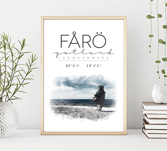 Poster: Langhammars Fårö Gotland