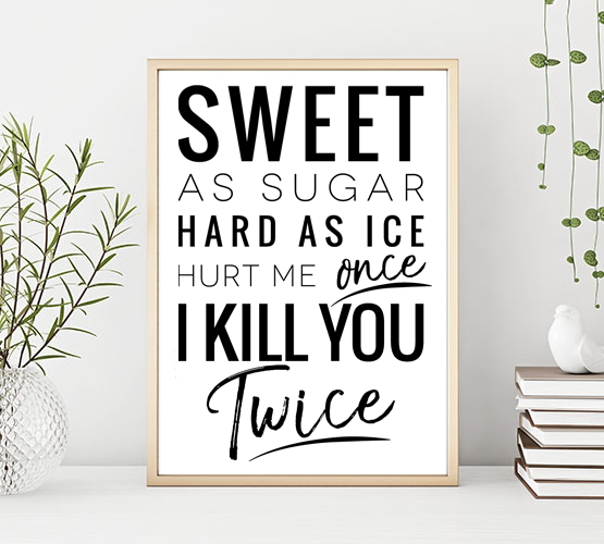 Poster: Sweet as sugar