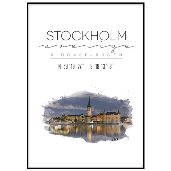 Poster: Stockholm, Riddarfjärden