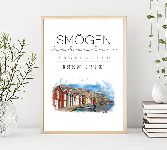 Poster: Smögen, Ängebacken