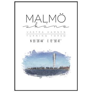 Poster: Malmö, Turning Torso