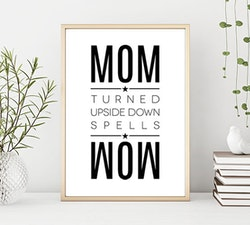 Poster: Mom turned upside down