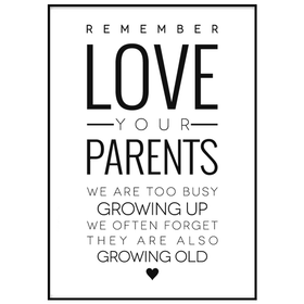 Poster: Love your parents