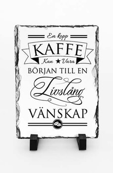 Stentavla, En kopp kaffe, 15x20cm