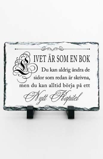 Stentavla, Livet är som en bok, 15x20cm