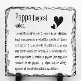 Stentavla, Pappa, 20x20cm