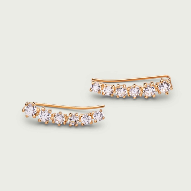 Dazzling earrings gold plated