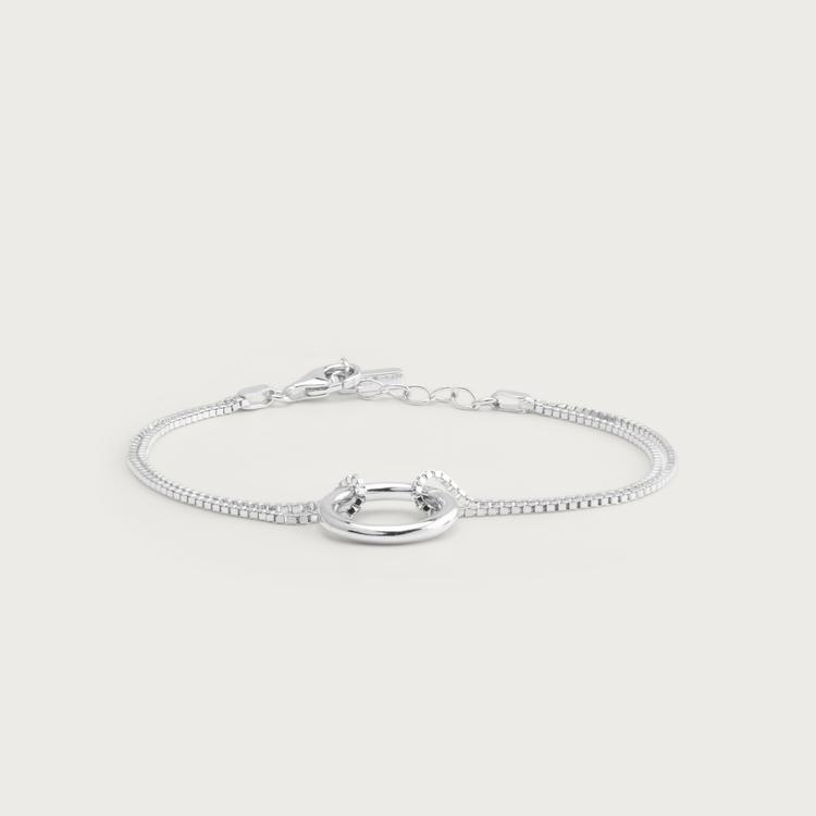 Bold bracelet silver