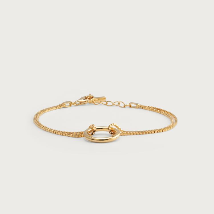 Bold bracelet gold plated