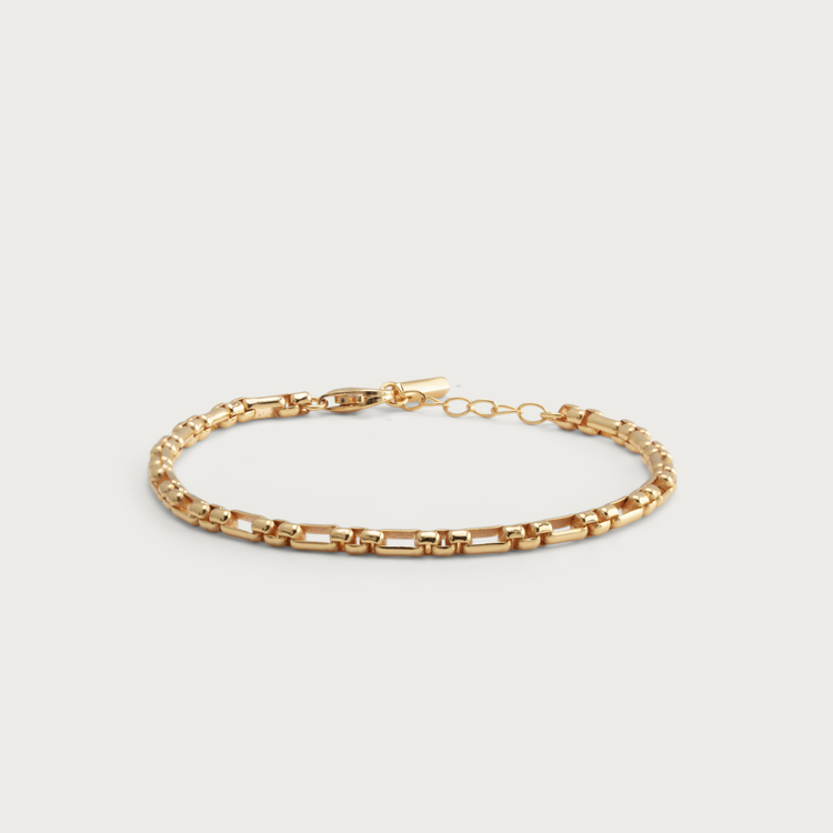 Chain bracelet gold plated
