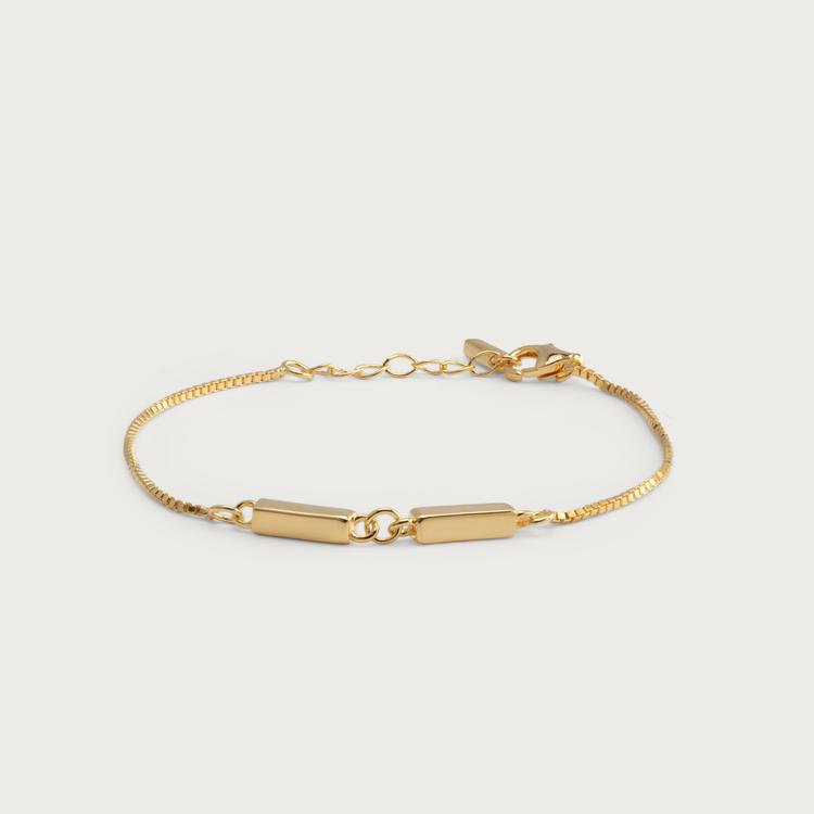 Linked bracelet gold plated