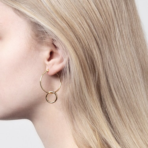 Double hoops earrings