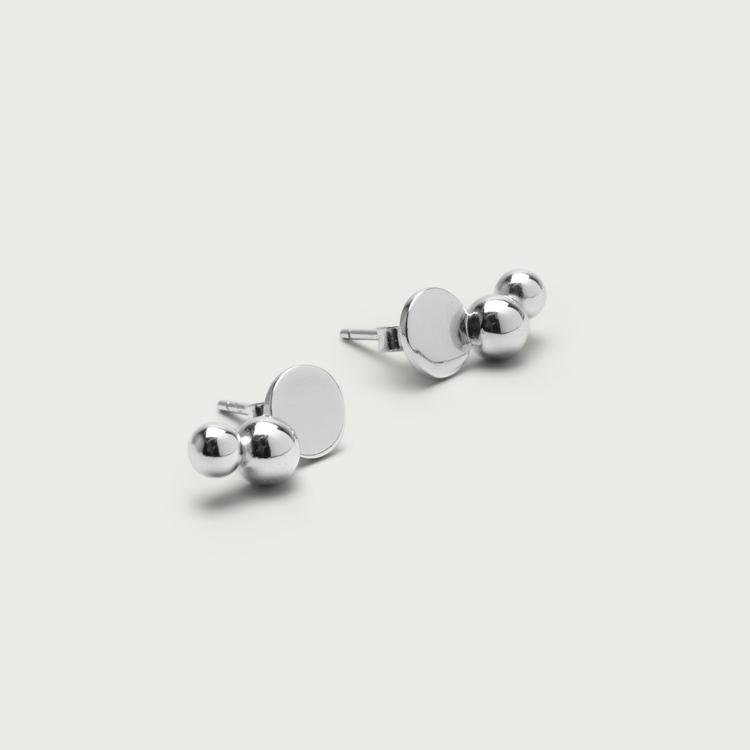 Trio earrings silver