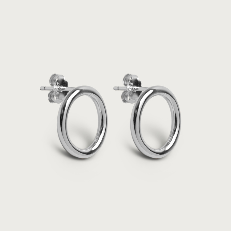Halo earrings silver