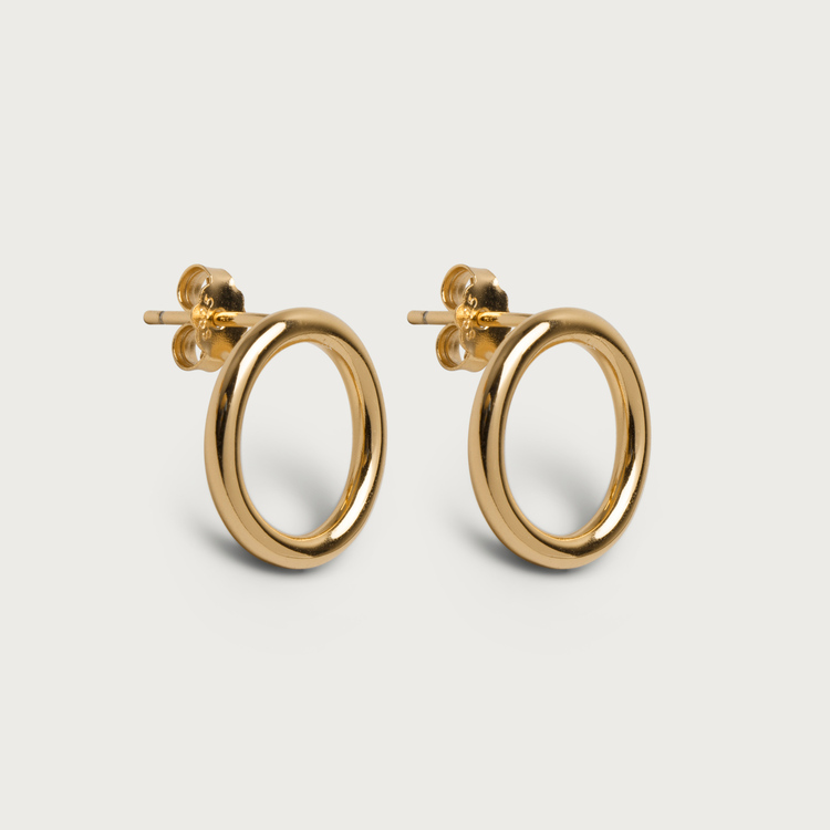 Halo earrings gold plated