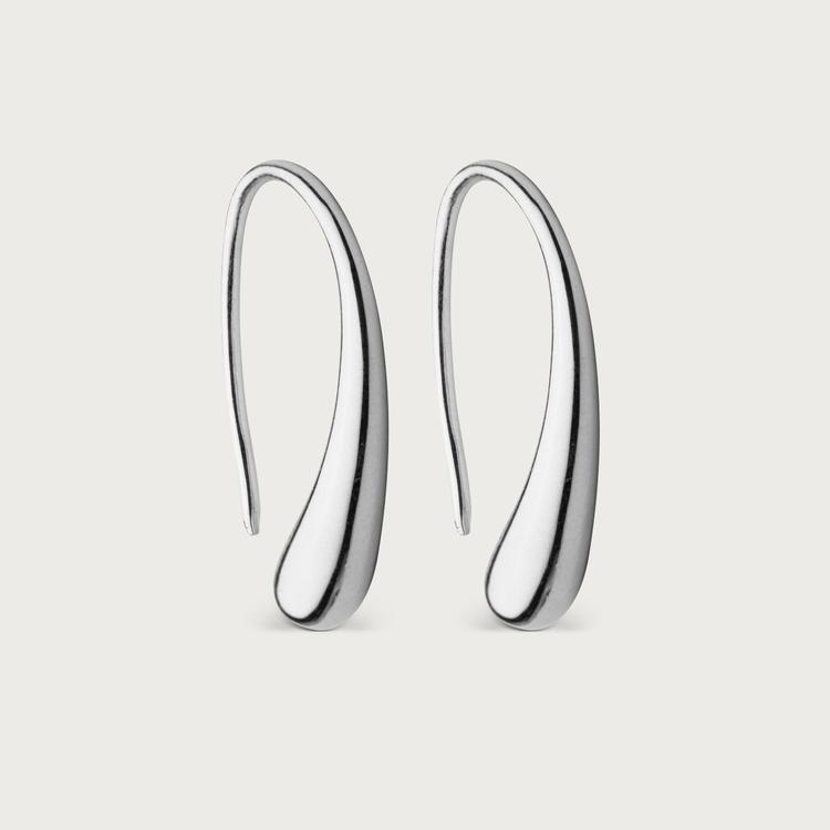 Droplet earrings silver