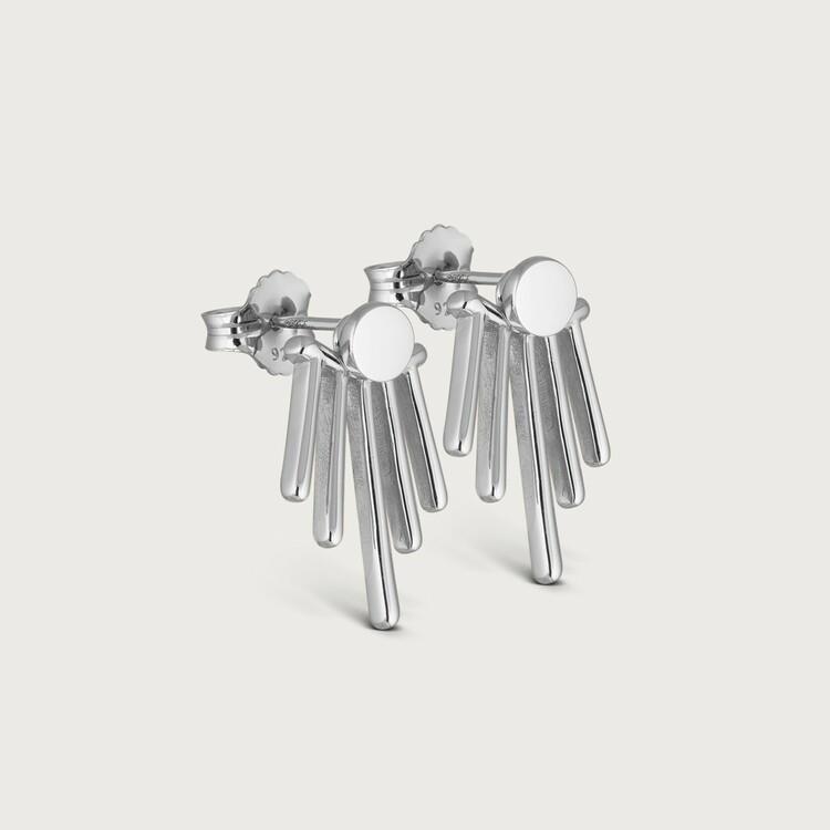 Twisted earrings silver