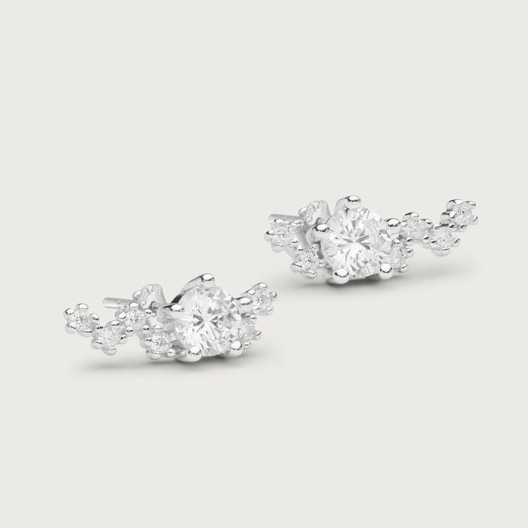 Midnight earrings silver