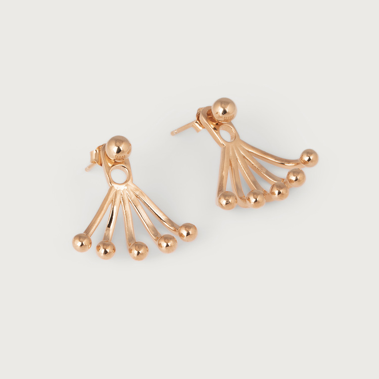 Drops earrings gold plated