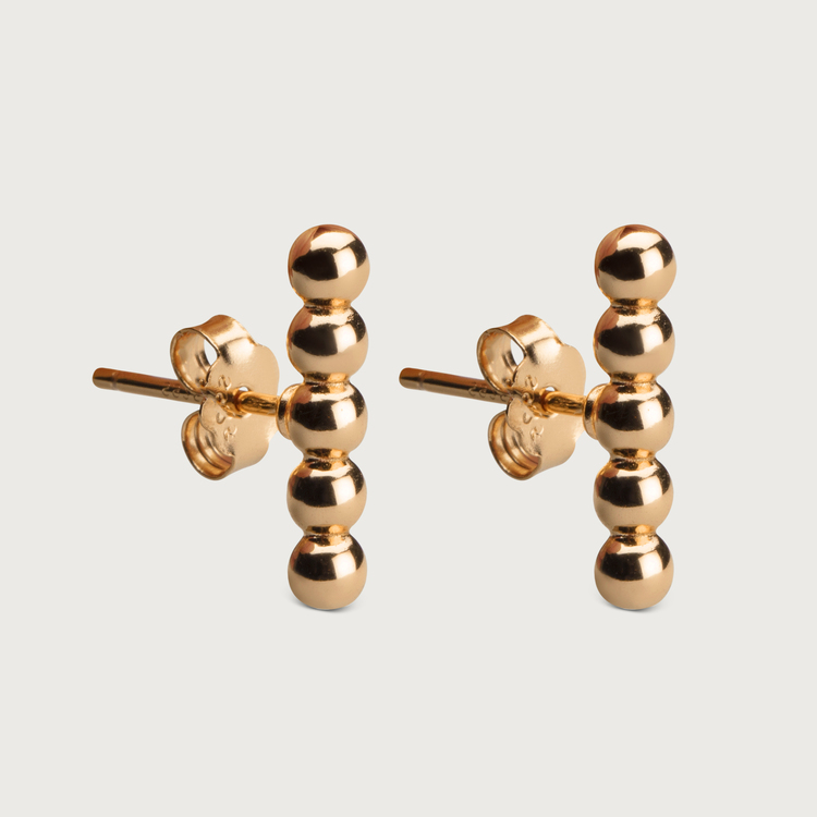 Dots earrings gold plated