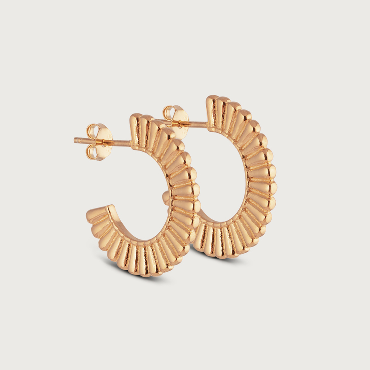 Prisma earrings gold plated