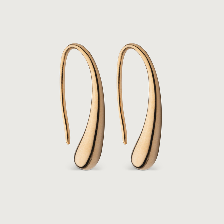 Droplet earrings gold plated