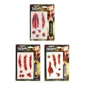 Zombietatueringar Med Blod